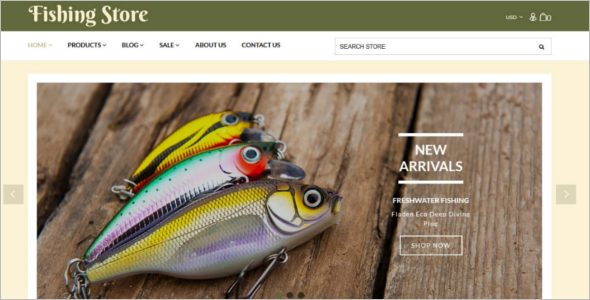Fishing Equipment Store Shopify Template