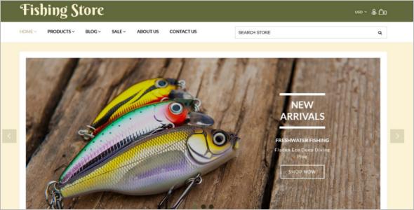 Fishing Equipment Store Shopify Template