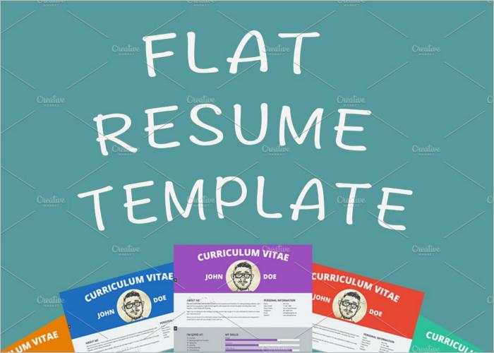 Flat HTML Resume Template