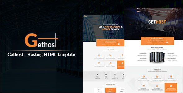 Flat Host Responsive Hosting Template