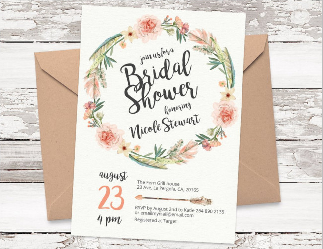 Floral Shower invitation template
