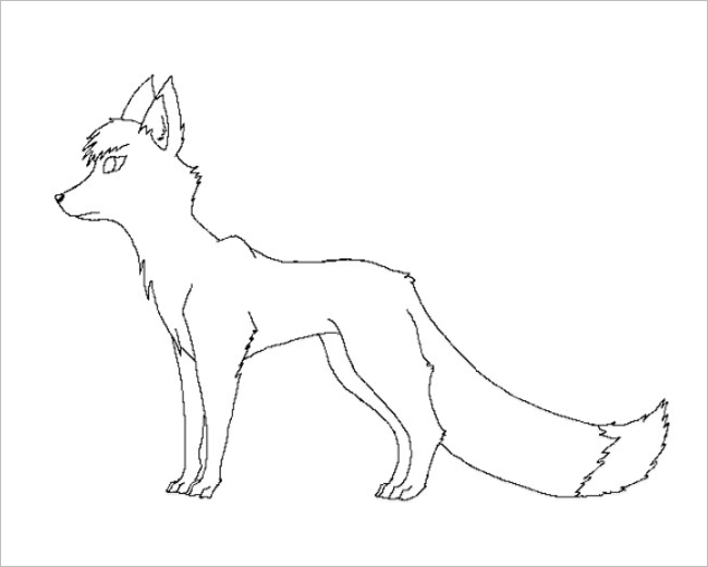 Fox Cut Out Template