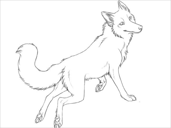 Fox Shape Template