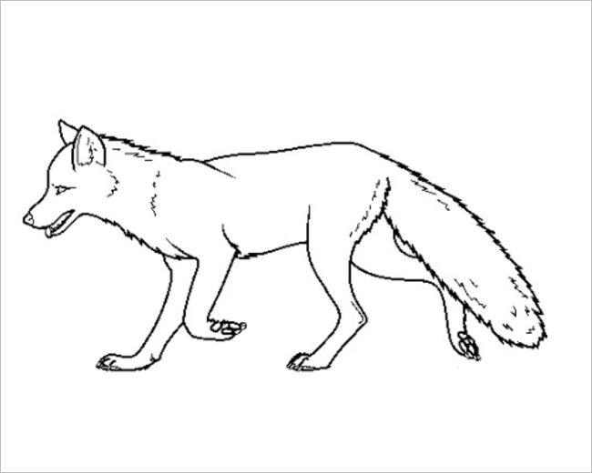 Fox Template For Applique