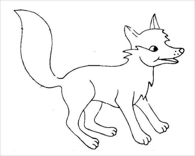 Fox Template Printable