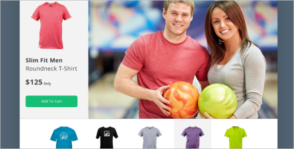 Free T-Shirt PSD eCommerce Template