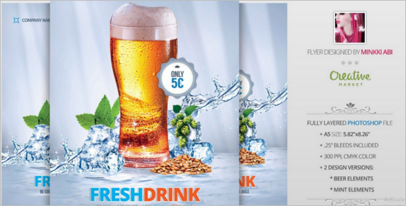 Fresh Drink Promotion Flyer