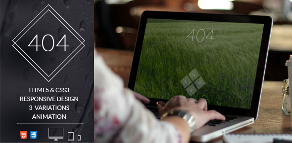 Full Screen 404 Error Page Website Template