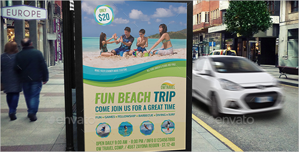 Fun Beach Trip Poster Theme
