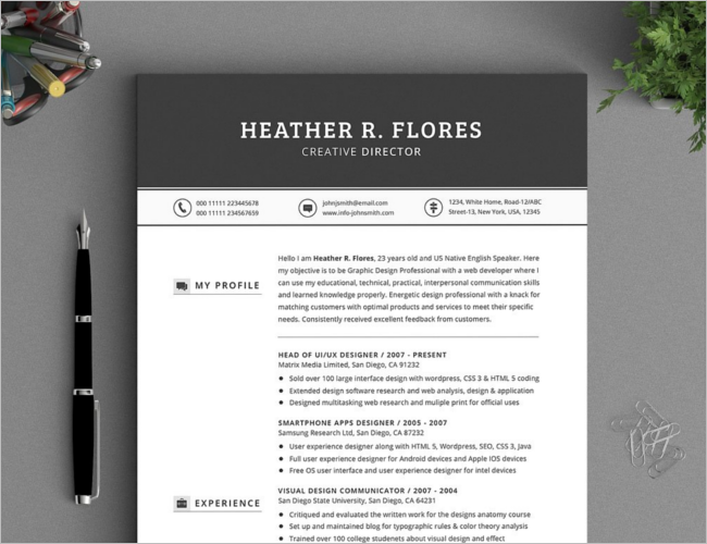 Functional Resume Design Template
