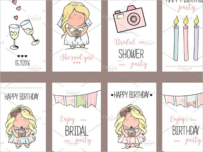 Girl Party Invitation Cards