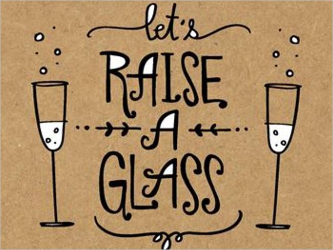 Glass Summer Invitation Card Sample
