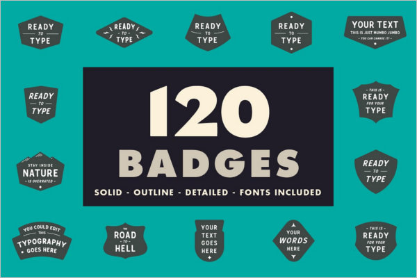 Graphic Badges & Stickers Design