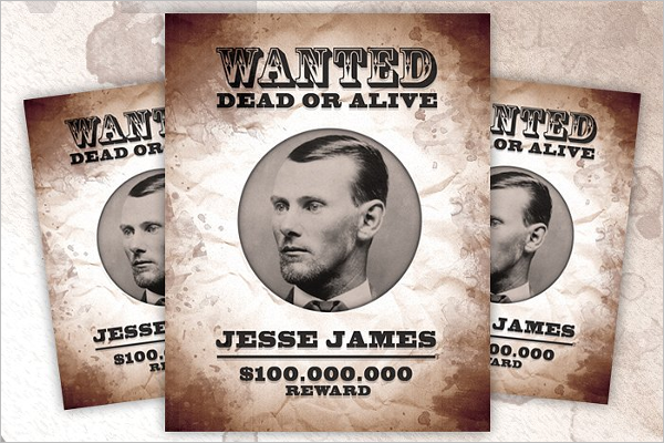 Grunge Wanted Poster Template