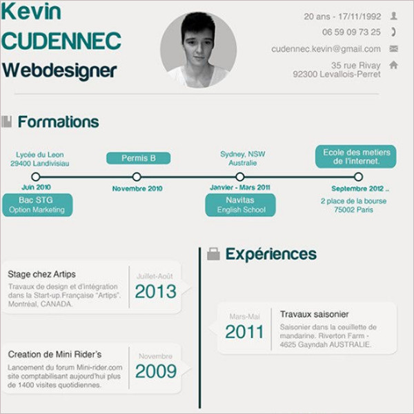 High Infographic Resume PSD Template