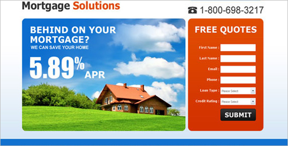 High solution capture landing Page