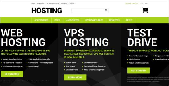 Hosting Magento Website Template