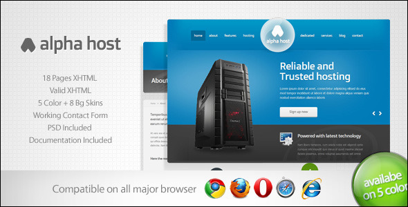 Hosting Response Website template