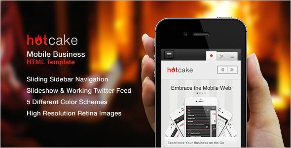 Hotcake Mobile HTML Website Template