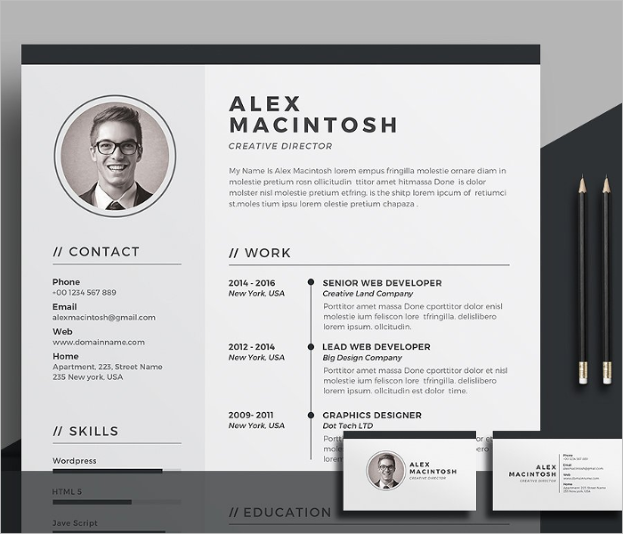 Infographic Creative Resume Template