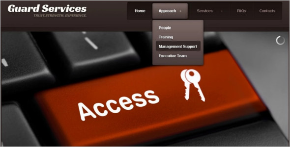 Information Security Website Template