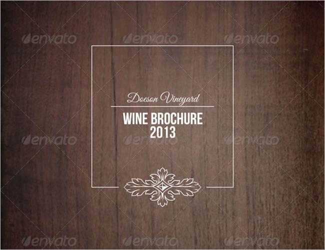 Informational Wine Brochure