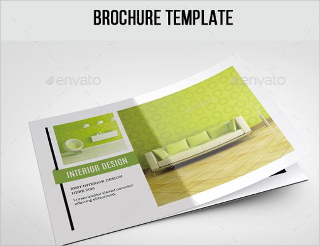 Interior Typography Decoration Brochure