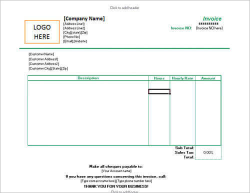 Invoice-for-hourly-rate