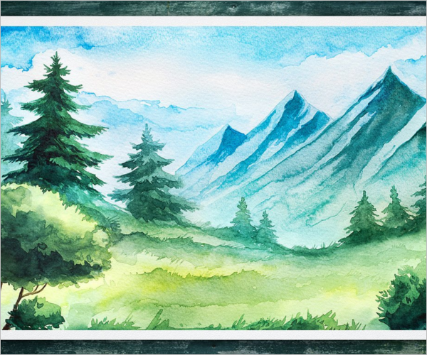 Landscapes Watercolour Sketch