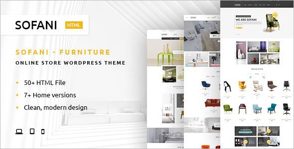 Latest Furniture Store WooComerce Template.