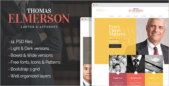 Law Company Finance Drupal template