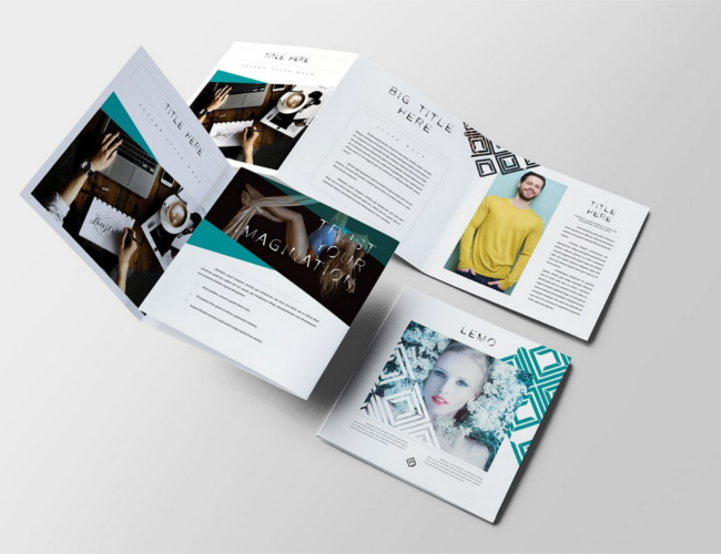 Lemo Square Trifold Brochure