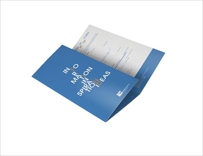 Library Brochure Idea Design