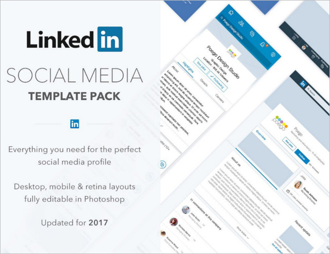 Linkedin Social Media Banner Template