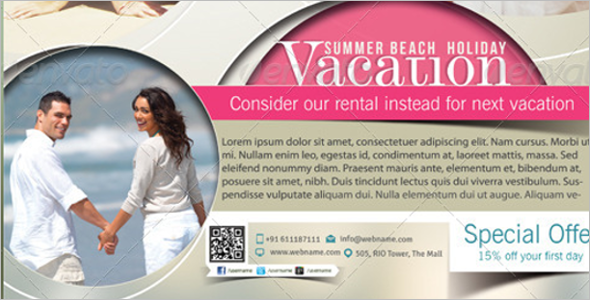 Magazine Vacation Poster Theme