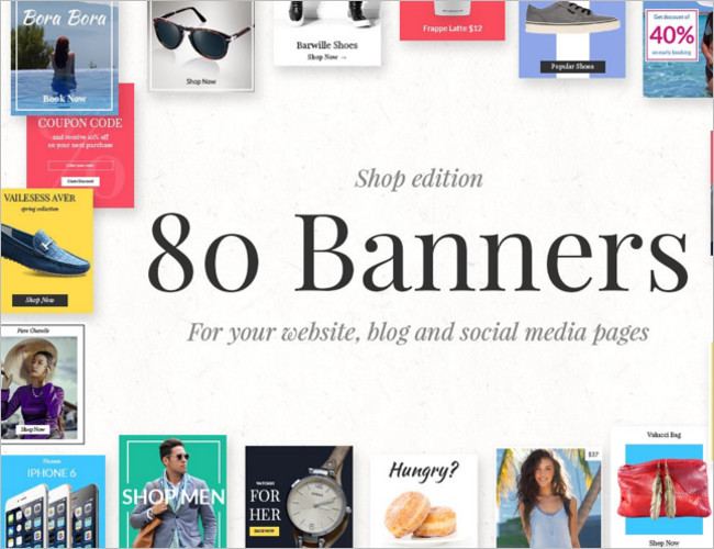Main Banners Shop Banner Template