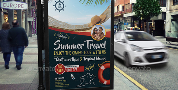 Main Holiday Travel Poster Theme