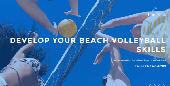 Main Volleyball Club Website Template