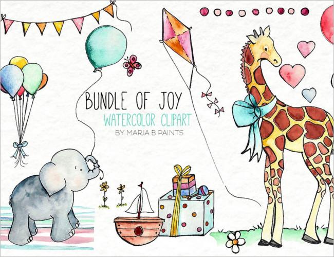 Main Watercolor Shower Invitation Template