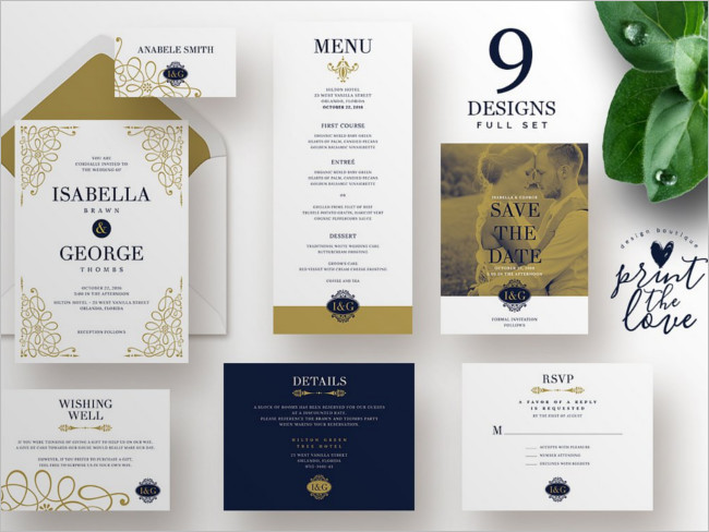 Marian Wedding Invitation Design