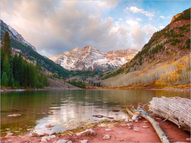 Maroon Lake HD Desktop Backgrounds Pictures