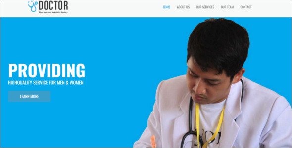 Medical caterory Website Template