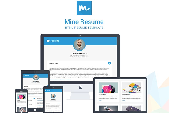 Mine HTML Resume Template