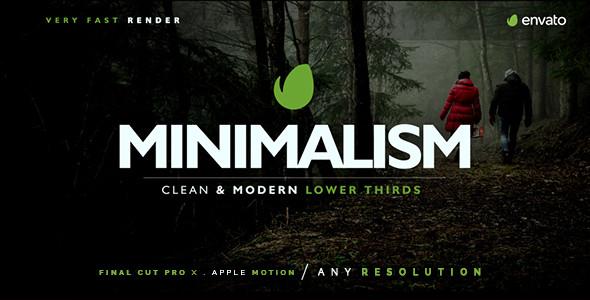 Minimal Apple Motion Template