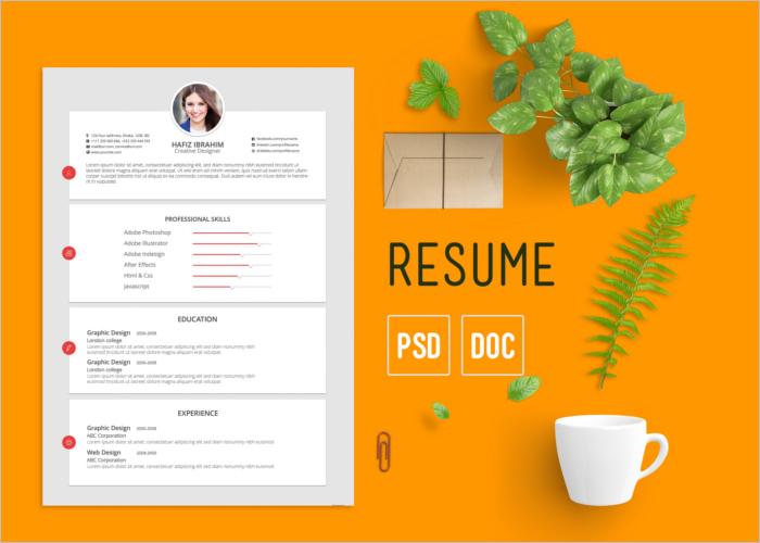 Minimal Flat Resume Template