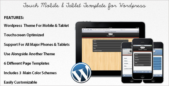 Mobile Tablet WordPress Templates