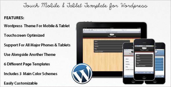 Mobile Tablet WordPress Templates