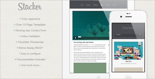 Mobile blog Website Template