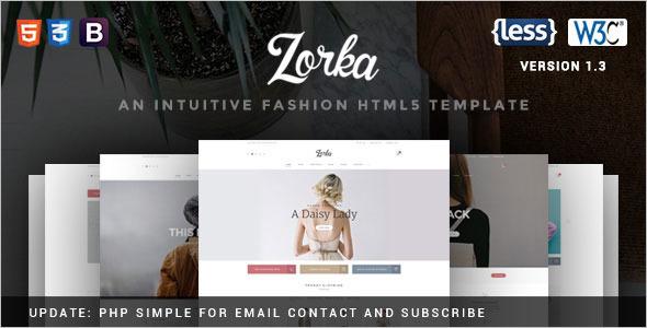 Modern Fashion Website Template