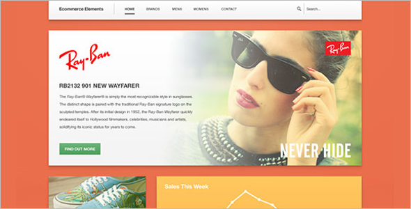 Modern Free PSD eCommerce Template